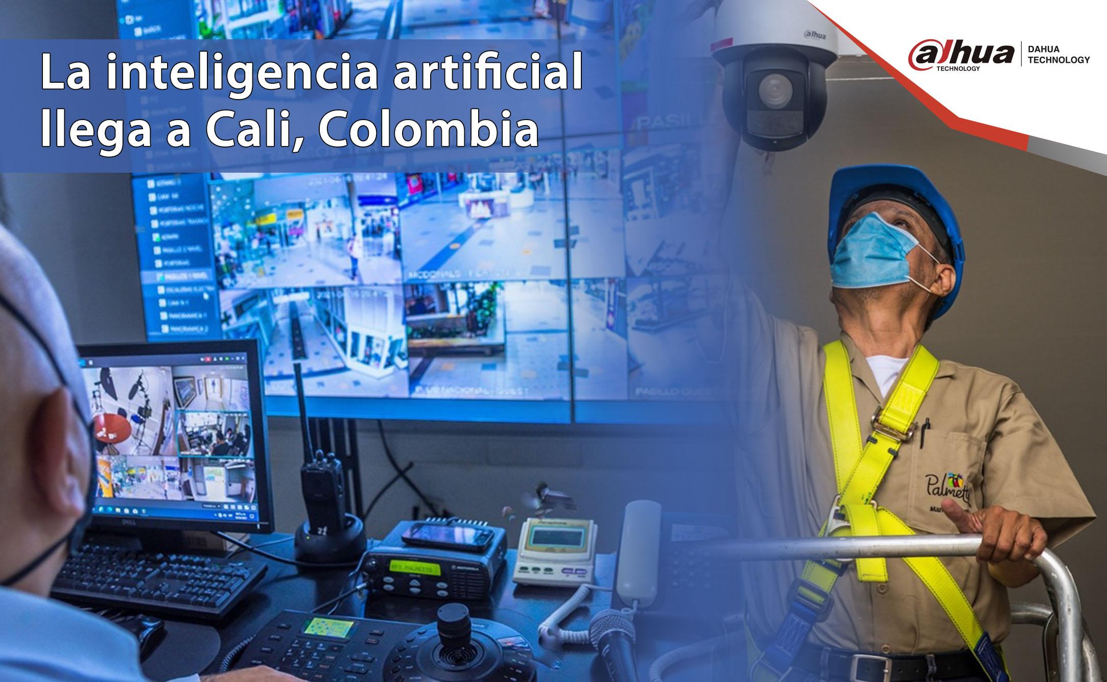 IA Dahua Technology en centro comercial de Colombia.