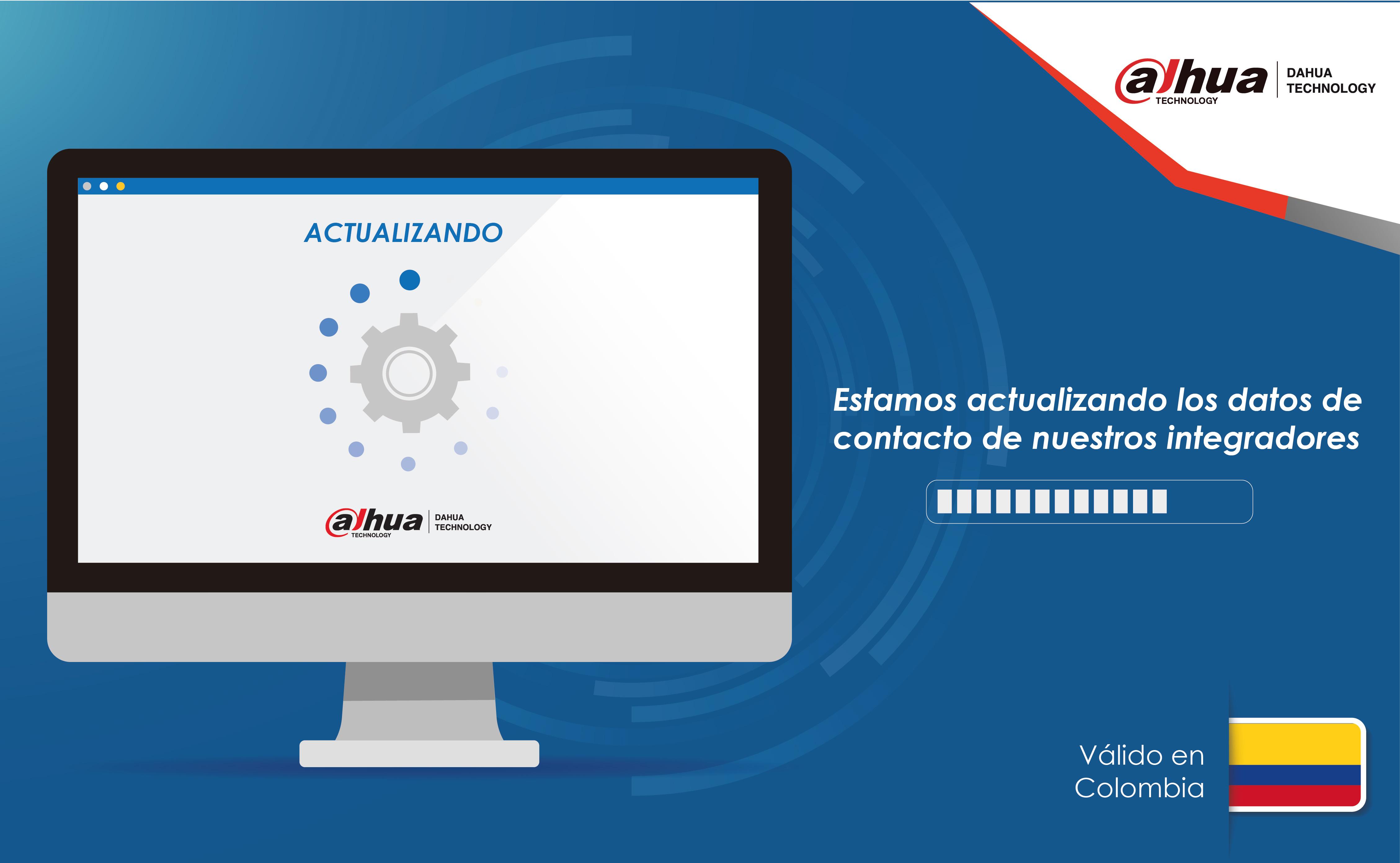 Actualización de datos Dahua en Colombia